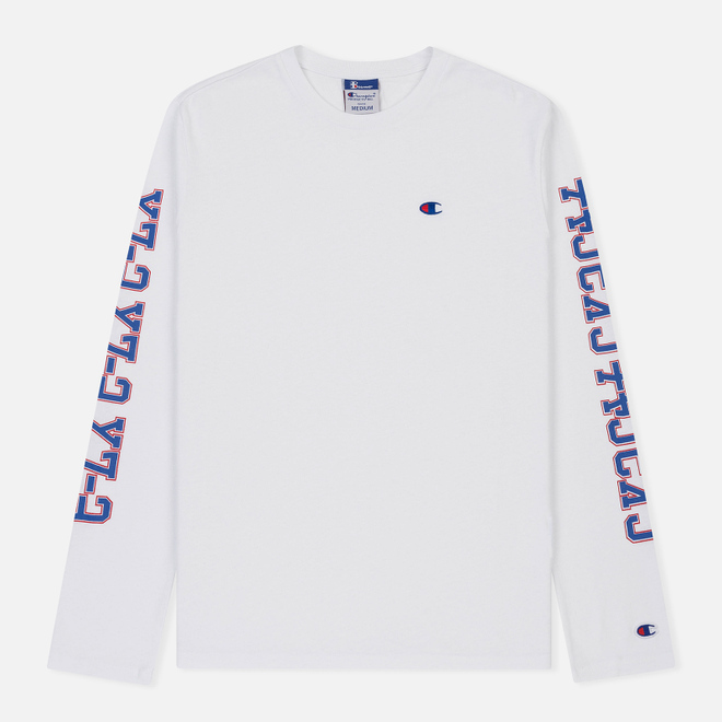 Мужской лонгслив Champion Reverse Weave x Beams Crew Neck LS White