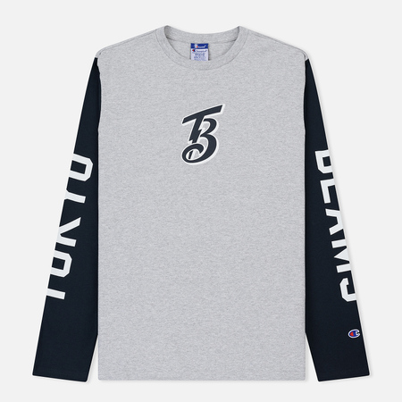 Мужской лонгслив Champion Reverse Weave x Beams Logo Print Sleevs Grey