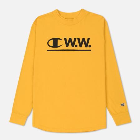 Мужской лонгслив Champion Reverse Weave x Wood Wood W.W. Logo Yellow
