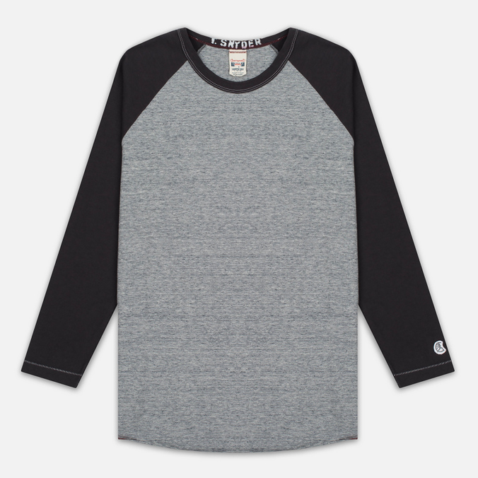 Мужской лонгслив Champion x Todd Snyder Baseball Grey Heather/Dark Grey