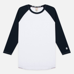 Мужской лонгслив Champion x Todd Snyder Baseball White/Navy фото- 0