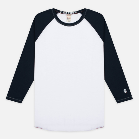 Champion x Todd Snyder Baseball Men's Longsleeve White/Navy