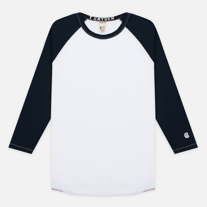 Мужской лонгслив Champion x Todd Snyder Baseball White/Navy