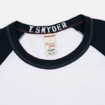 Мужской лонгслив Champion x Todd Snyder Baseball White/Navy фото- 1