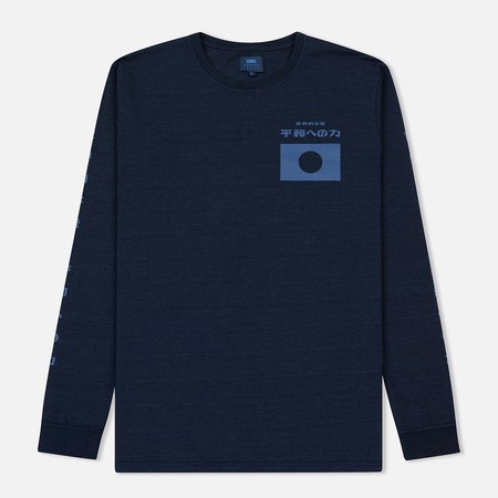 Мужской лонгслив Edwin Bosozoku Dream Dark Indigo Garment Washed