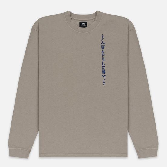 Мужской лонгслив Edwin Hazy Dreams Motto Garment Dyed Faded Out Moon Rock