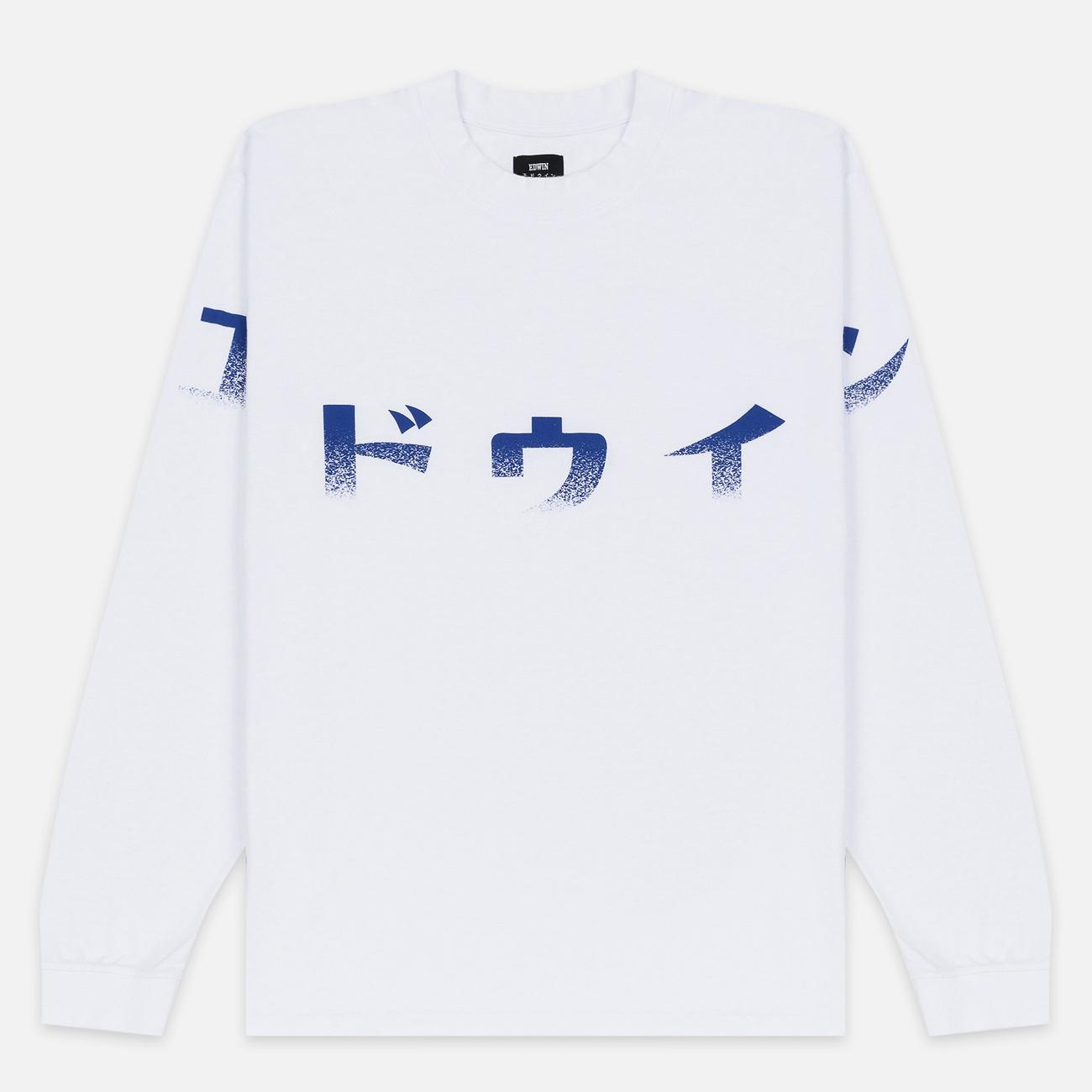 Мужской лонгслив Edwin Imprint Garment Wash White