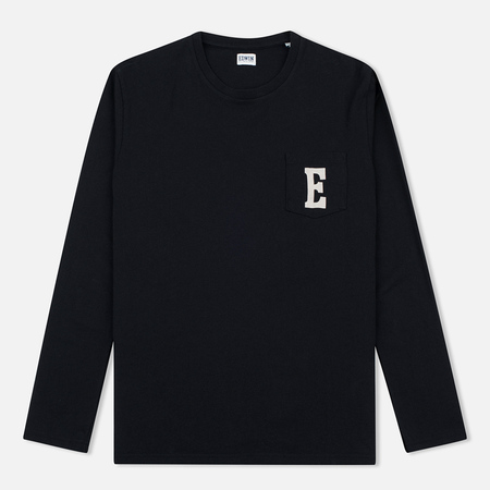 Edwin Pocket Logo Type 1 Men's Longsleeve Black