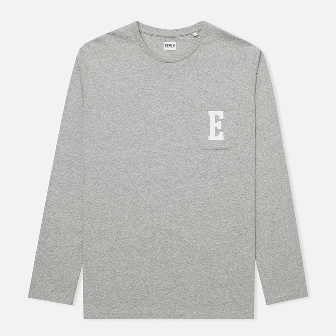 Мужской лонгслив Edwin Pocket Logo Type 1 Grey Marl