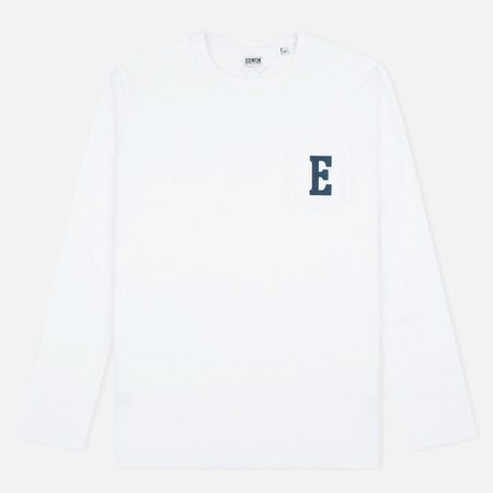 Edwin Pocket Logo Type 1 Longsleeve White