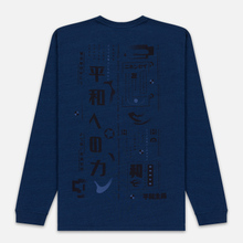 Мужской лонгслив Edwin Power To The Peaceful Garment Wash Mid Indigo фото- 4