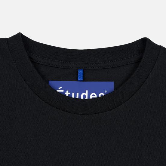 Мужской лонгслив Etudes Wonder Etudes Logo Front/Back Black
