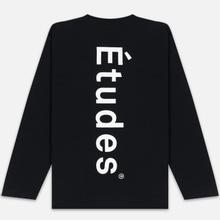 Мужской лонгслив Etudes Wonder Etudes Logo Front/Back Black фото- 3