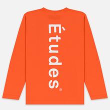 Мужской лонгслив Etudes Wonder Etudes Logo Front/Back Orange фото- 3