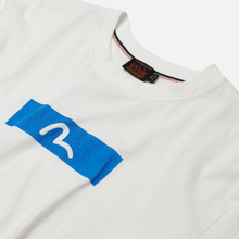 Мужской лонгслив Evisu Evergreen Seagull Box Logo Printed Off White Off White фото- 1
