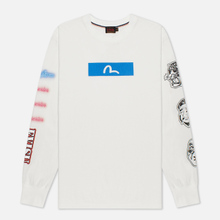 Мужской лонгслив Evisu Evergreen Seagull Box Logo Printed Off White Off White фото- 0