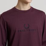 Мужской лонгслив Fred Perry 90s Branding Embroidered Mahogany фото- 3