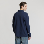 Мужской лонгслив Fred Perry Panelled Pique Carbon Blue фото- 2