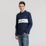 Мужской лонгслив Fred Perry Panelled Pique Carbon Blue фото- 1