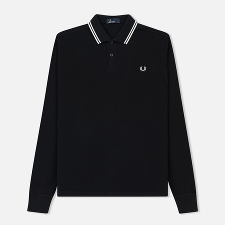 Мужской лонгслив Fred Perry Polo Twin Tipped Black/Porcelain/Porcelain