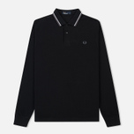 Мужской лонгслив Fred Perry Polo Twin Tipped Black/White/Iced Slate фото- 0