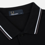 Мужской лонгслив Fred Perry Polo Twin Tipped Black/White/Iced Slate фото- 1