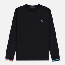 Мужской лонгслив Fred Perry Process Colour Black фото- 0