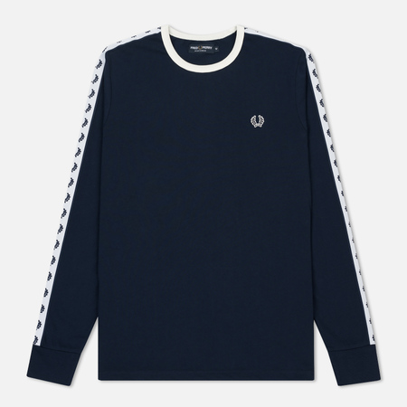 Мужской лонгслив Fred Perry Taped Ringer Carbon Blue