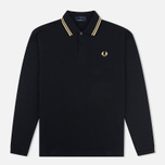 Мужской лонгслив Fred Perry Twin Tipped Black/Champagne фото- 0