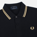 Мужской лонгслив Fred Perry Twin Tipped Black/Champagne фото- 1