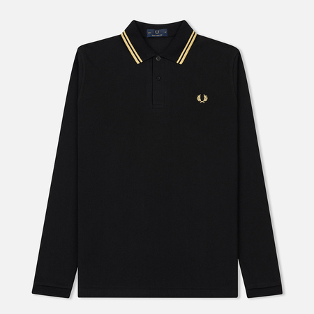 Мужской лонгслив Fred Perry Twin Tipped Black/Champagne