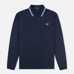 Мужской лонгслив Fred Perry Twin Tipped Navy/Ice фото- 0