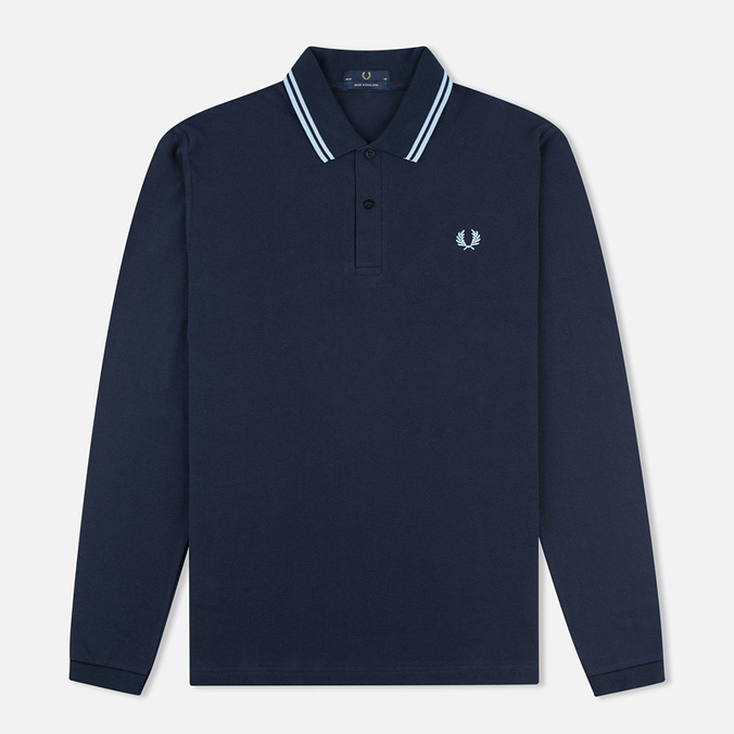 Мужской лонгслив Fred Perry Twin Tipped Navy/Ice