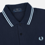 Мужской лонгслив Fred Perry Twin Tipped Navy/Ice фото- 1