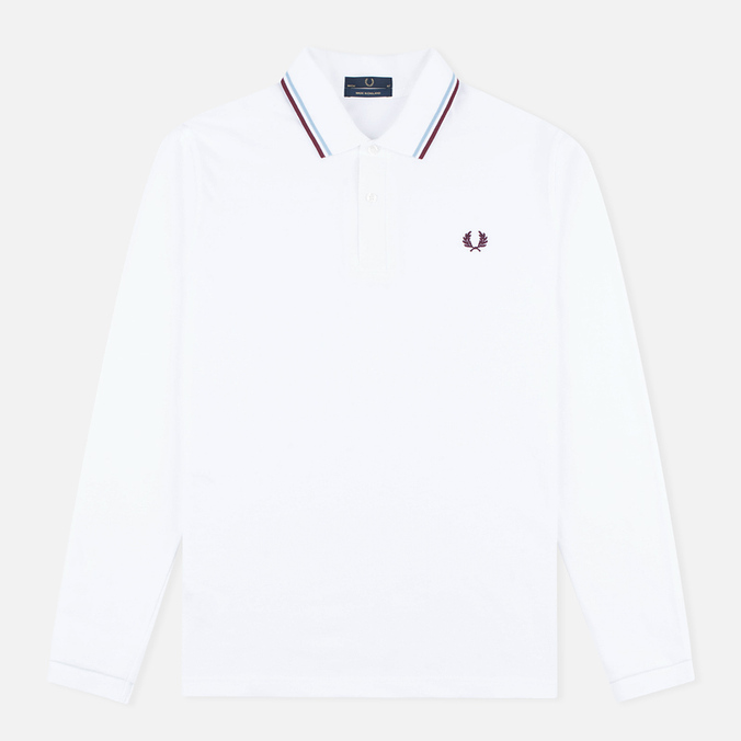 Fred Perry Twin Tipped Men's Longsleeve White/Ice/Maroon