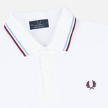 Мужской лонгслив Fred Perry Twin Tipped White/Ice/Maroon фото- 1