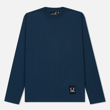 Мужской лонгслив Fred Perry x Raf Simons Patch Logo Dark Blue