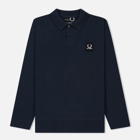 Мужской лонгслив Fred Perry x Raf Simons Rib Collar Polo Dark Navy