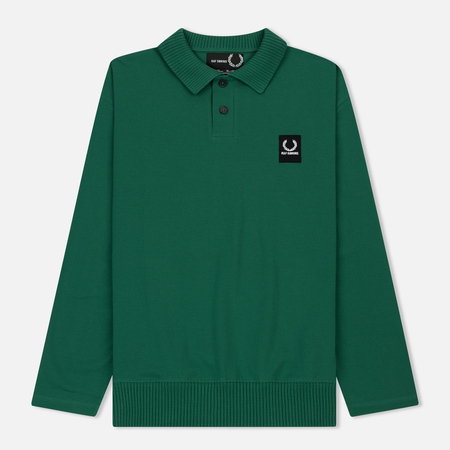 Мужской лонгслив Fred Perry x Raf Simons Rib Collar Polo Green