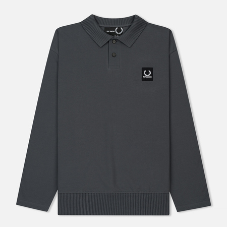 Мужской лонгслив Fred Perry x Raf Simons Rib Collar Polo Industrial Grey