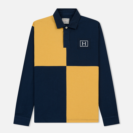Мужской лонгслив Hackett Archive Quad Navy/Gold