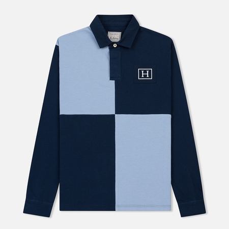 Мужской лонгслив Hackett Archive Quad Navy/Sky