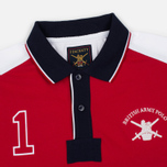 Мужской лонгслив Hackett Army Pieced LS Red/Navy фото- 1