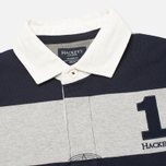 Hackett Block Striped Rugby Men's Longsleeve Navy/Grey photo- 1