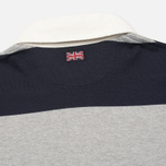 Hackett Block Striped Rugby Men's Longsleeve Navy/Grey photo- 4