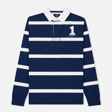 Мужской лонгслив Hackett Inch Stripe Rugby Blue/White