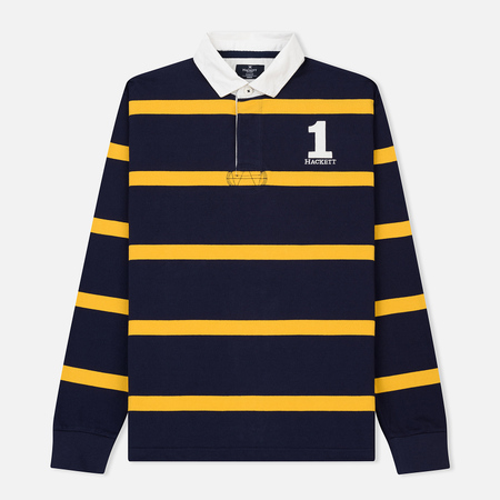 Мужской лонгслив Hackett Inch Stripe Rugby Navy/Gold