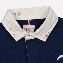 Мужской лонгслив Hackett Logo HKT Patch Rugby Ink фото- 1