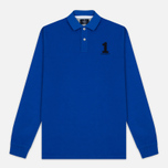 Мужской лонгслив Hackett New Classic LS Polo Electric Blue фото- 0