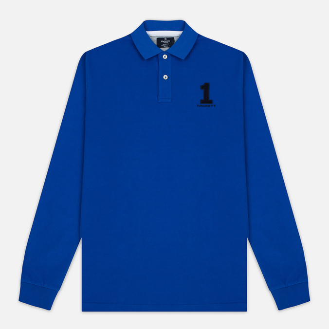Мужской лонгслив Hackett New Classic LS Polo Electric Blue